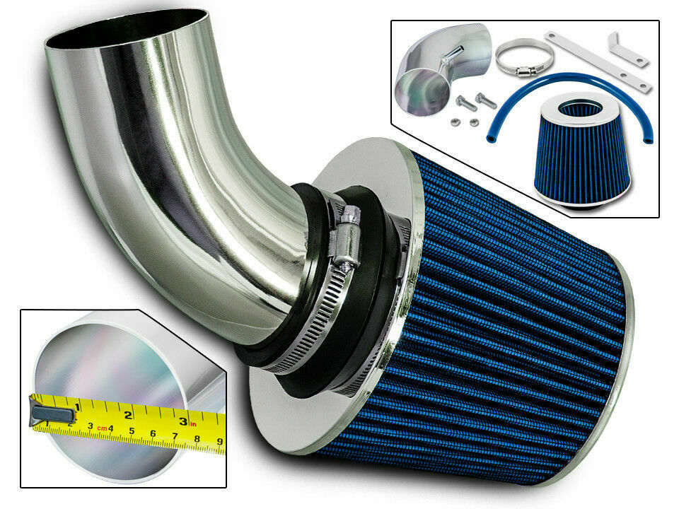short ram air intake kit blue filter for 03 06 chrysler. Black Bedroom Furniture Sets. Home Design Ideas