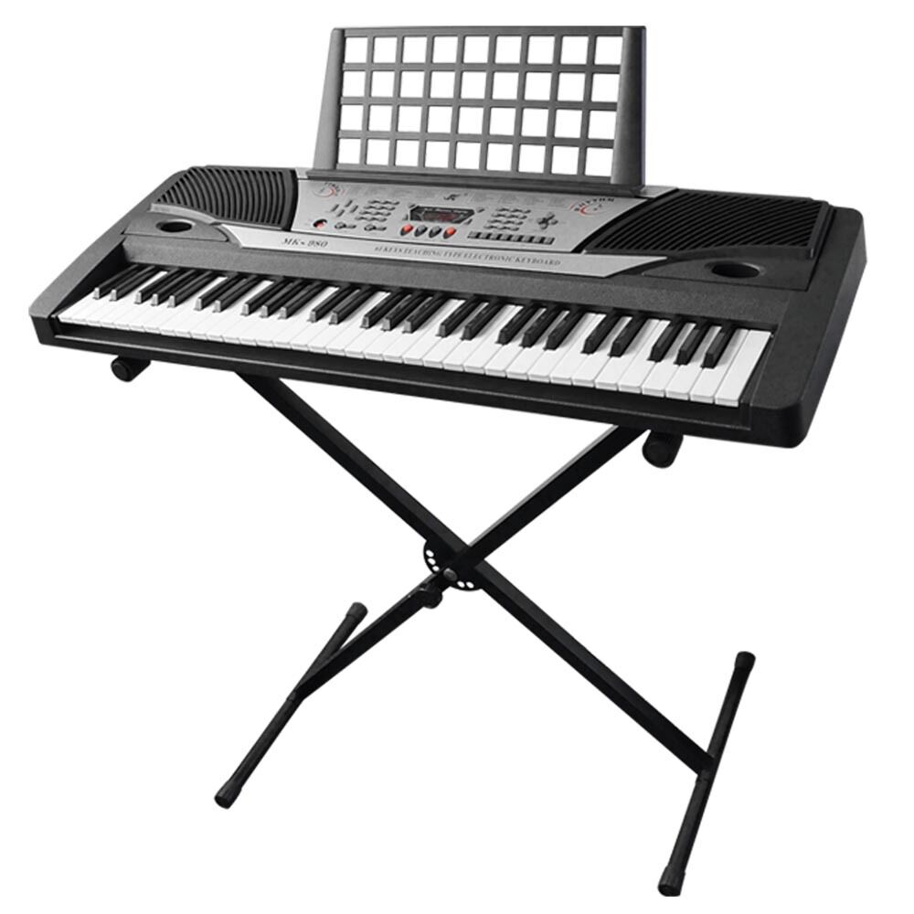 electronic piano beginner keyboard 61 key music key board piano with x stand ebay. Black Bedroom Furniture Sets. Home Design Ideas