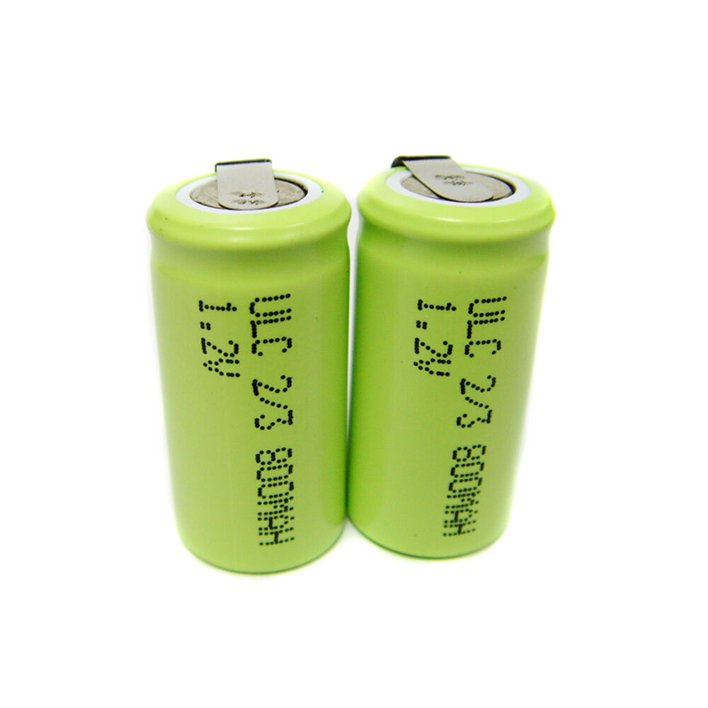 10 ultracell 2 3 aa 800mah nimh 1 2v volt rechargeable battery pack solder w tab ebay. Black Bedroom Furniture Sets. Home Design Ideas