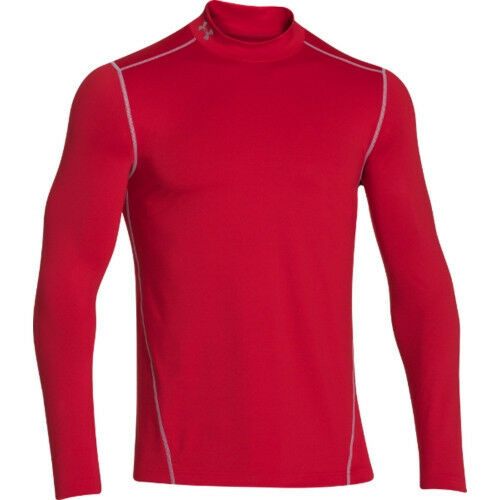 Under armour mens coldgear evo fitted mock neck long for Yellow under armour long sleeve shirt