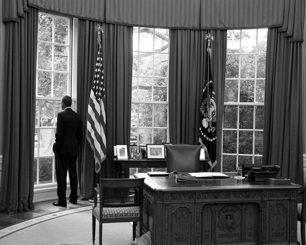 President barack obama looking out oval office white house - When is obama out of office ...