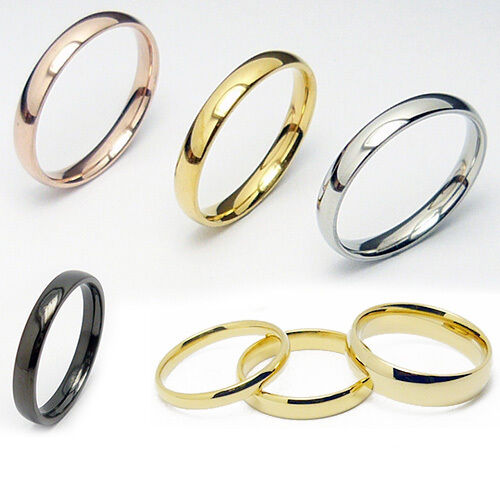 edelstahlring fingerring ring edelstahl rose gold silber damen herren ebay. Black Bedroom Furniture Sets. Home Design Ideas