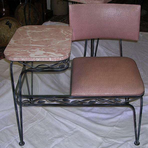 Pink & Green Formica Wrought Iron Base 1950's 8 Pc Kitchen