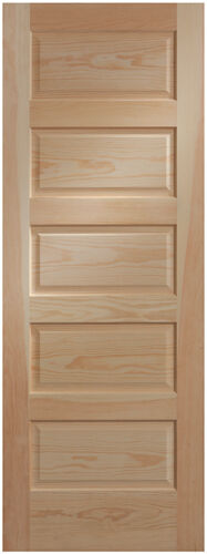 5 panel clear pine craftsman raised panel stain grade for 15 panel solid wood door
