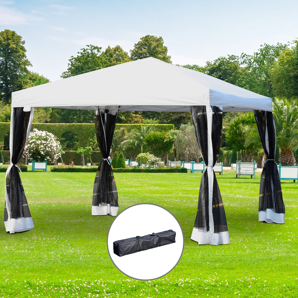 Pop Up Gazebos : Outsunny ft outdoor pop up tent wedding canopy