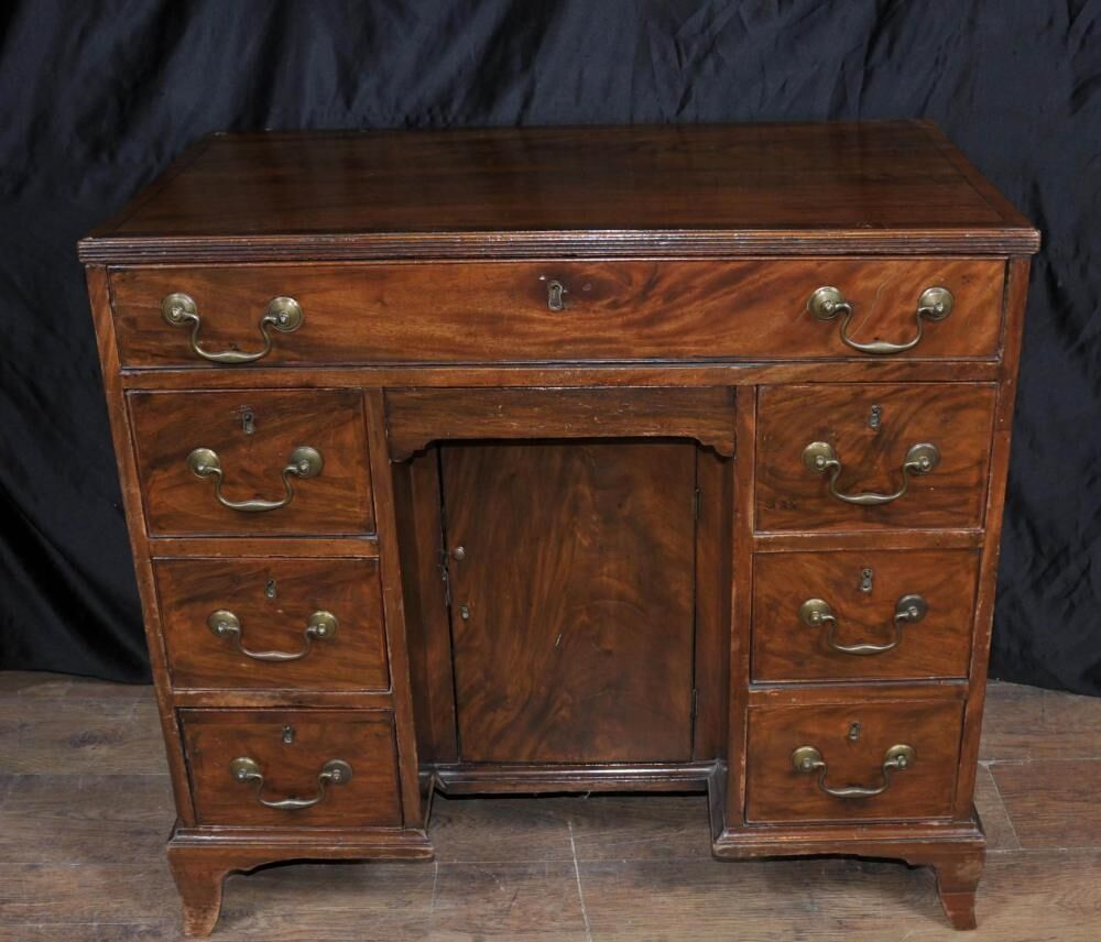 george iii mahogany knee hole desk bureau pedestal desks ebay. Black Bedroom Furniture Sets. Home Design Ideas