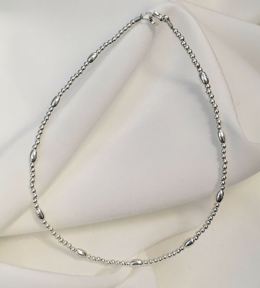 New sterling silver bracelet or ankle bracelet 2804 plus for Plus size jewelry bracelets