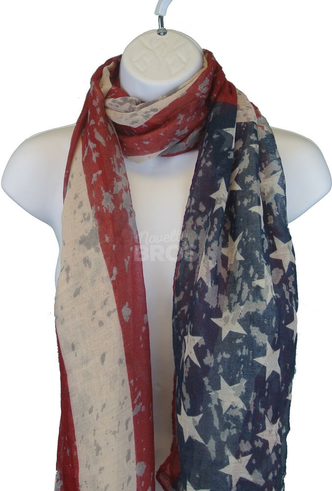 vintage usa flag scarf stylish patriotic american
