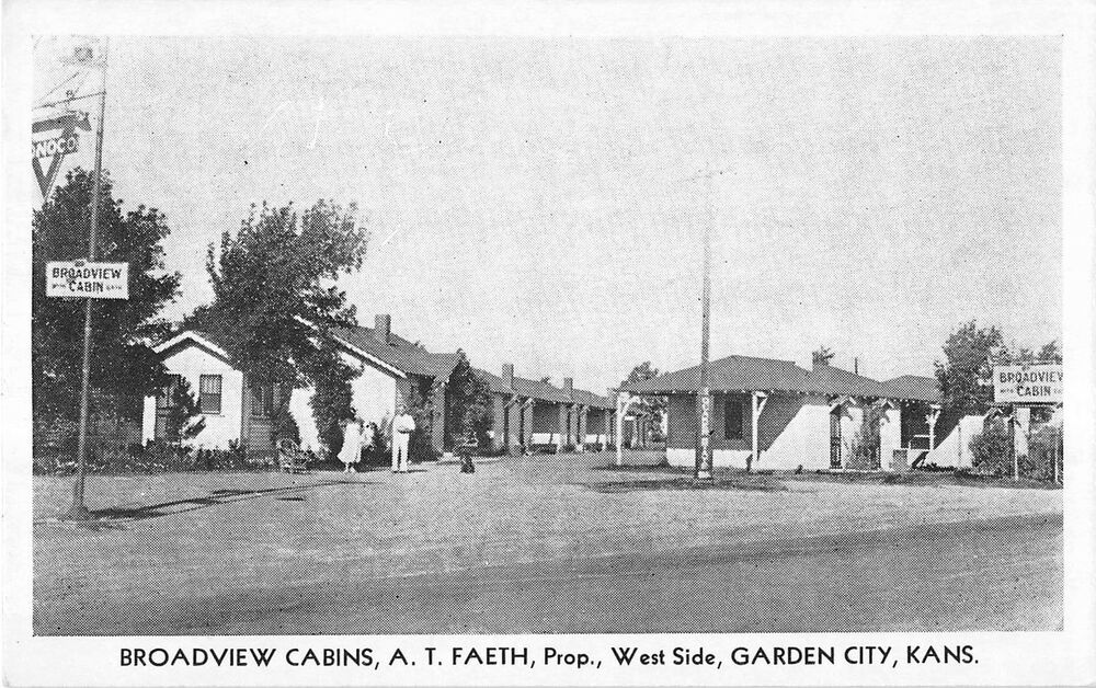Garden City Kansas Broadview Cabins General View Vintage