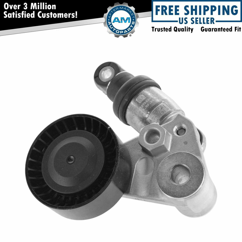 Serpentine Belt Tensioner With Pulley For Hyundai Kia V6 3
