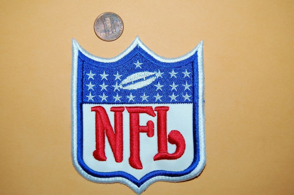 Nfl Football 4 Quot White Outline Large Patch 1970 2007