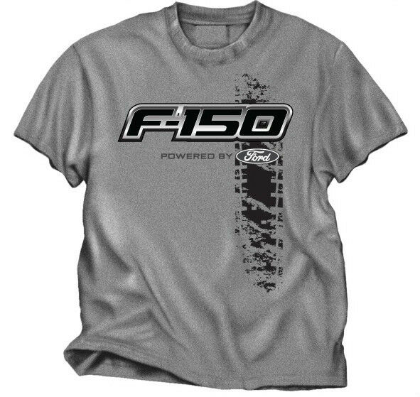 ford truck f 150 tire track design grey tee shirt ebay. Black Bedroom Furniture Sets. Home Design Ideas