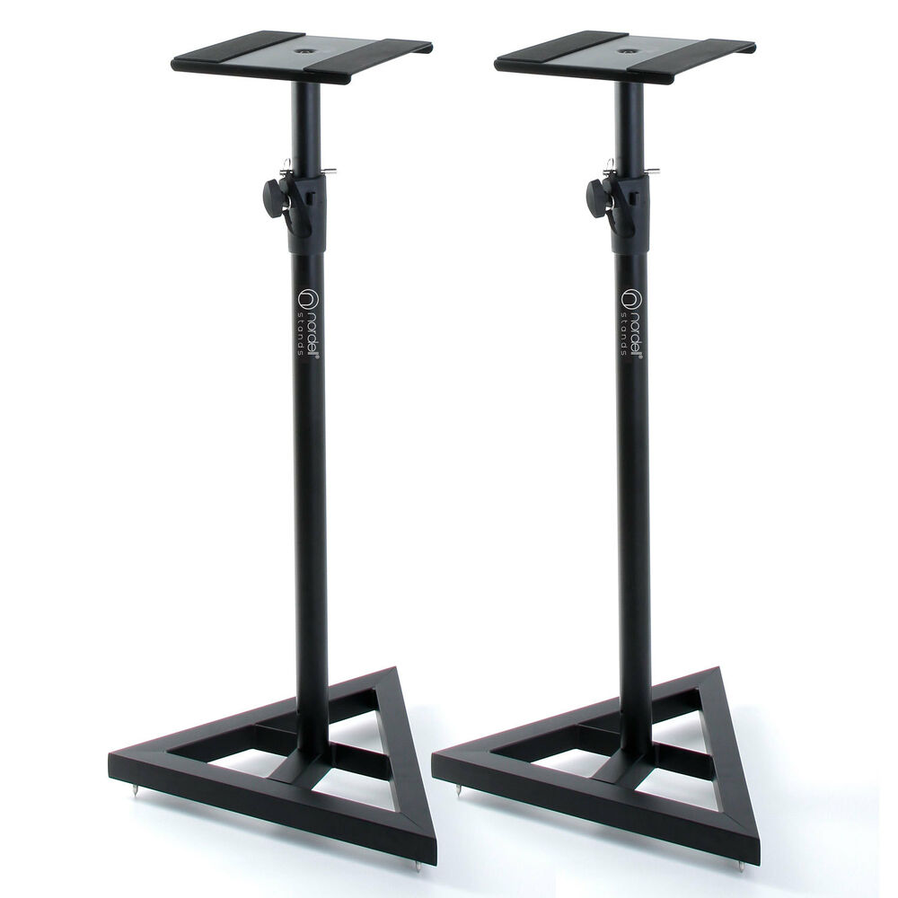 premium studio monitor stands speaker stand for monitors with lifetime warranty ebay. Black Bedroom Furniture Sets. Home Design Ideas
