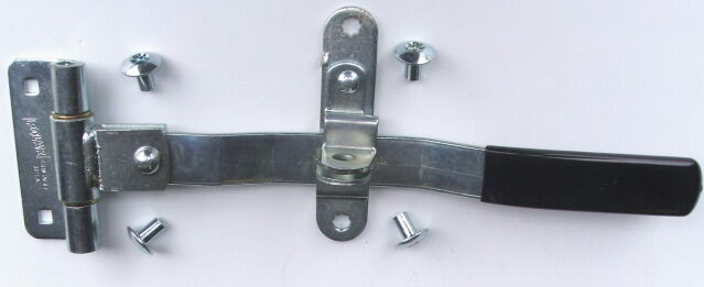 Swing Hinged Trailer Door Bar Latch Handle Lock Side Rear