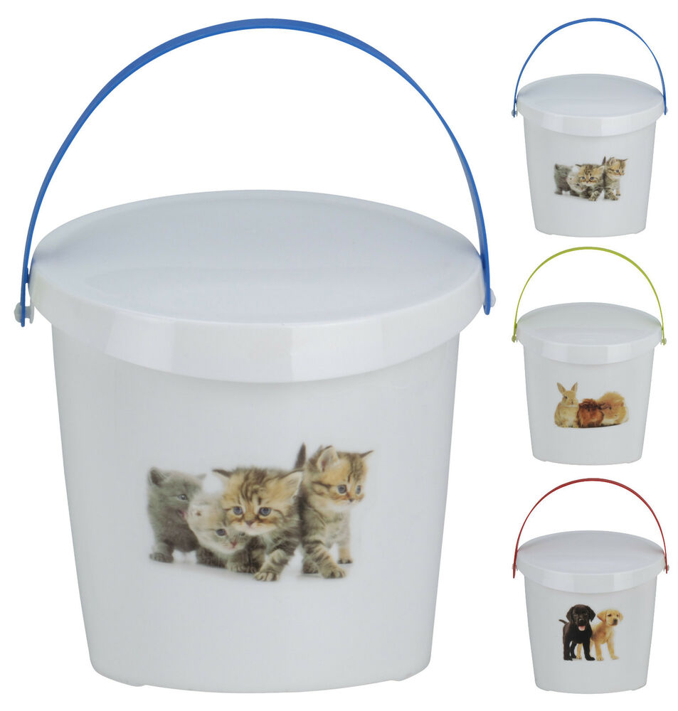 White Cat Food Storage Tin