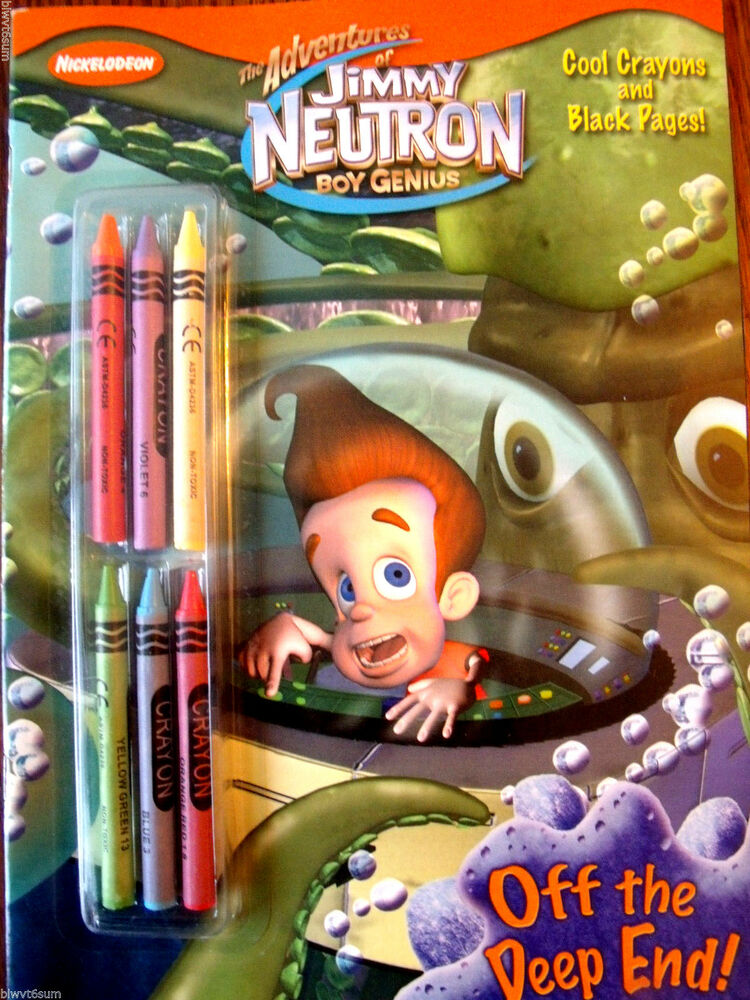 JIMMY NEUTRON OFF THE DEEP END COLORING BOOK WITH BLACK