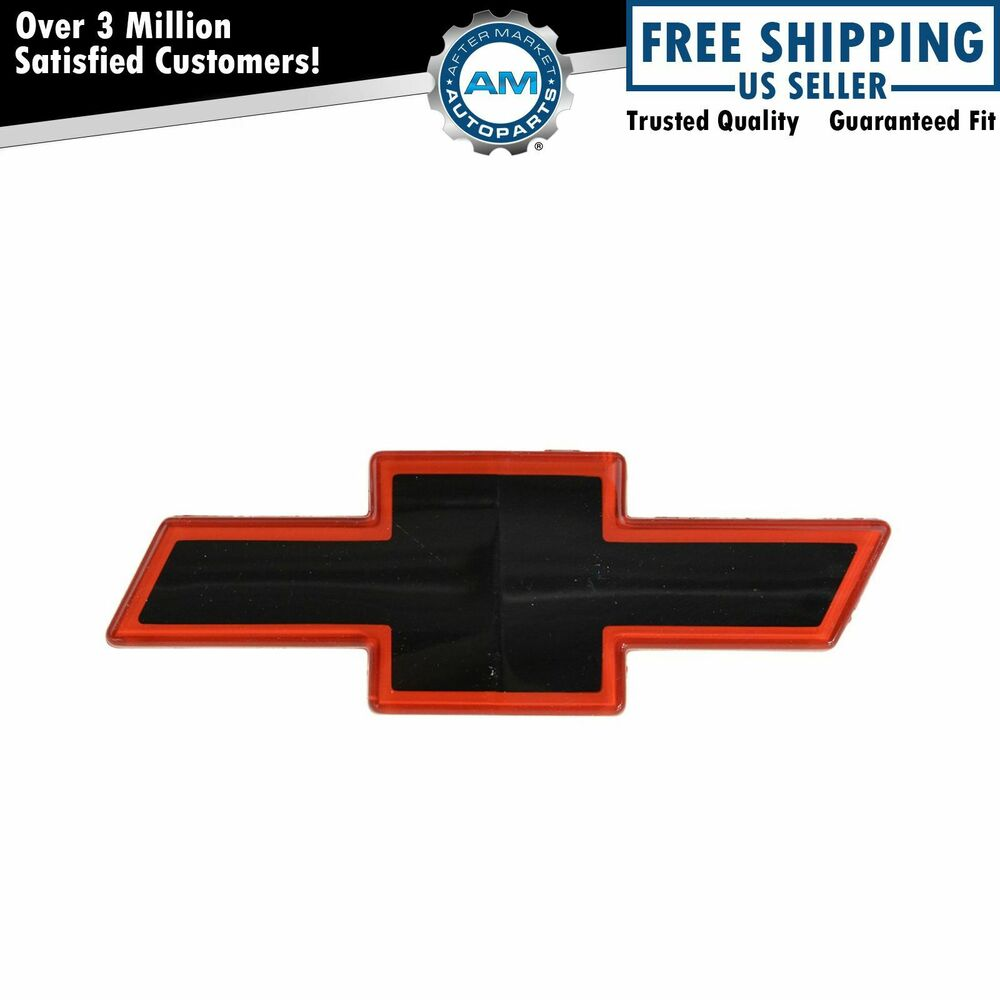 1993 Chevy Silverado OEM 15607532 Grille Mounted Black & Red Bowtie Emblem for ...