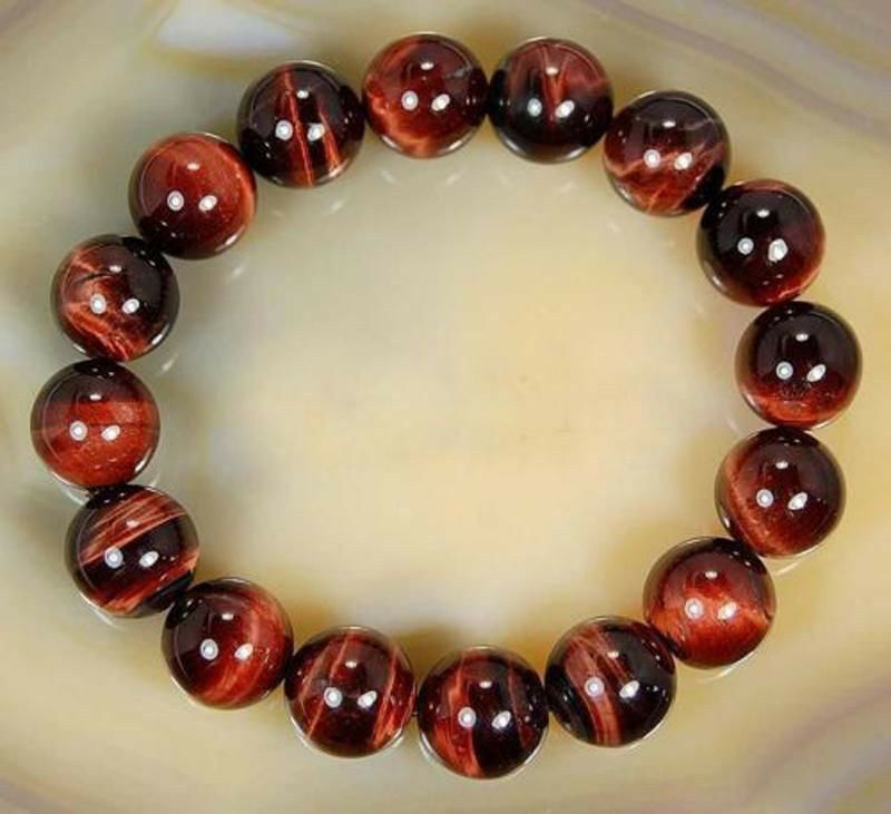 Red Tigers Eye Stone Rare Natural 12mm Red ...