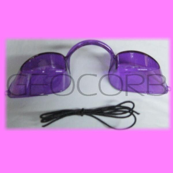 Purple Eye Candy Tanning Bed Eyewear Goggles For Uv