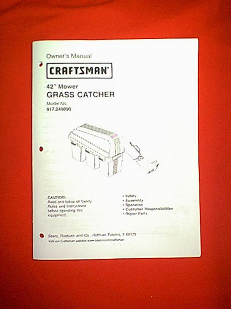 Craftsman Bagger Parts Manual