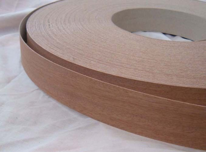 Sapele Iron On Edging Pre Glued Real Wood Veneer Tape 22mm