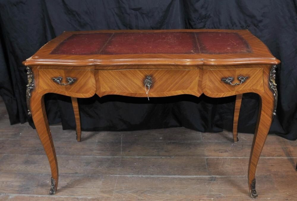 Antique french empire bureau plat writing table extending for Bureau in french