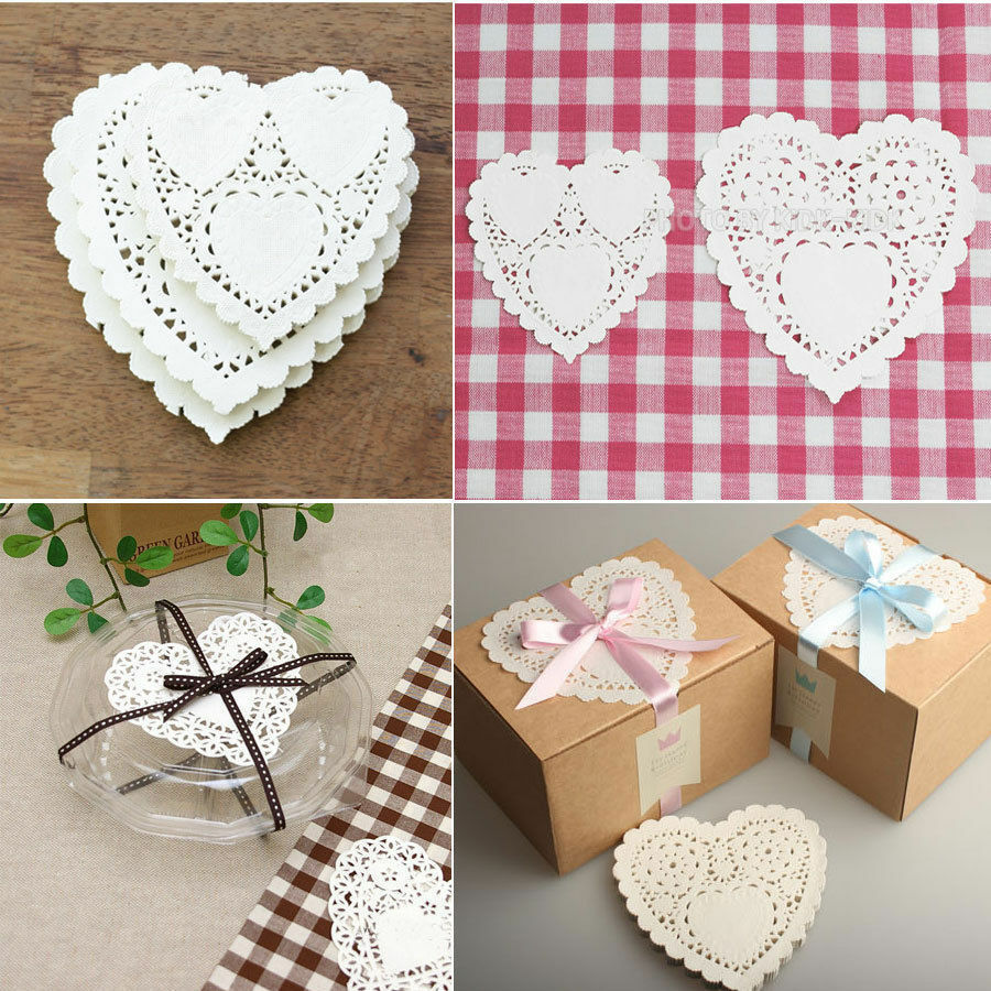 Crafts heart paper lace doilies for card making for Crafts that sell on ebay
