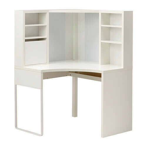 Ikea Micke Desk Table Computer Corner Work Station White