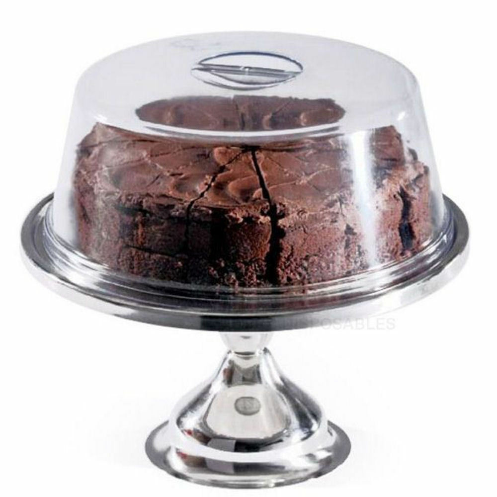 cake stand dome cover 12 round display wedding. Black Bedroom Furniture Sets. Home Design Ideas