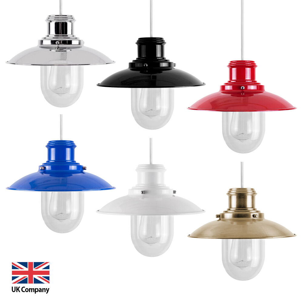 Modern Metal / Glass Fishermans Ceiling Pendant Light