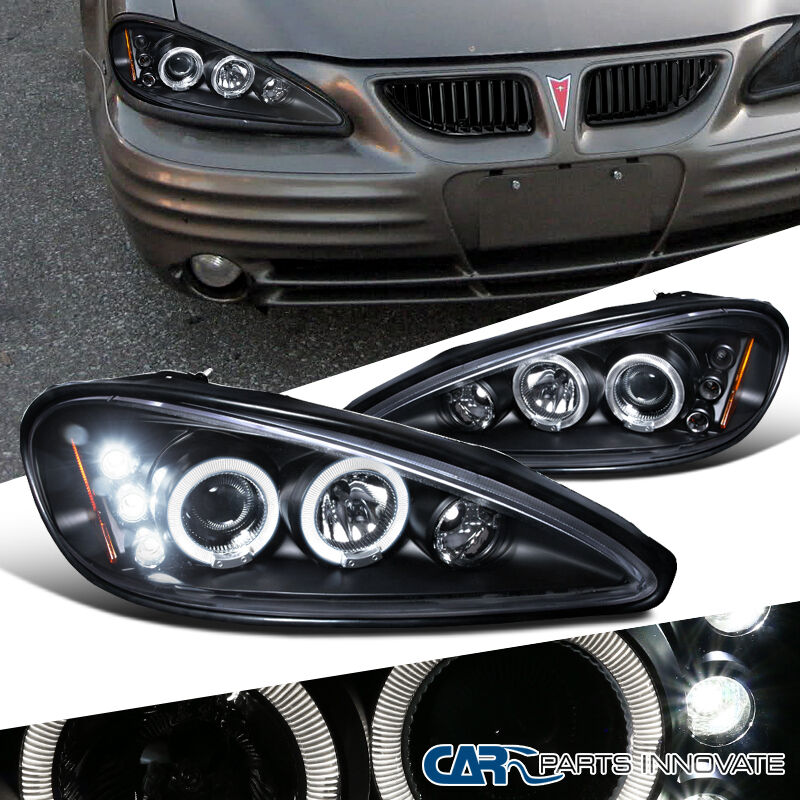 pontiac 99 05 grand am led halo projector headlights lamp. Black Bedroom Furniture Sets. Home Design Ideas
