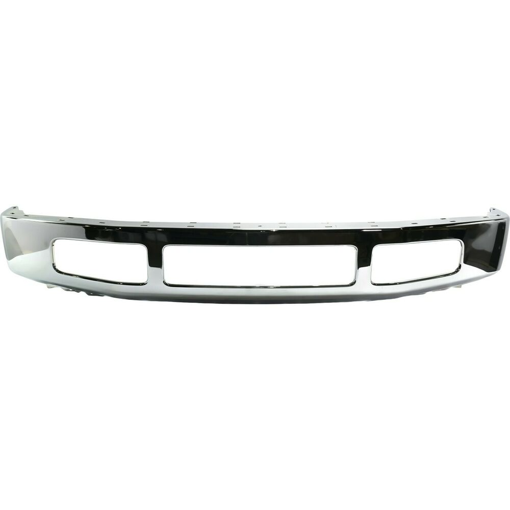 front bumper for 2008 2010 ford f 250 super duty f 350 super duty chrome steel ebay. Black Bedroom Furniture Sets. Home Design Ideas