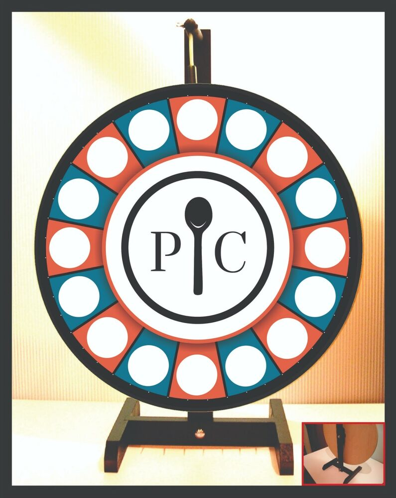 prize wheel 18 quot  spinning tabletop portable pampered chef pampered chef logo font pampered chef logo tablecloth