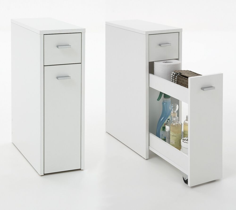 Denia genius slimline bathroom kitchen slide out Bathroom storage cabinets