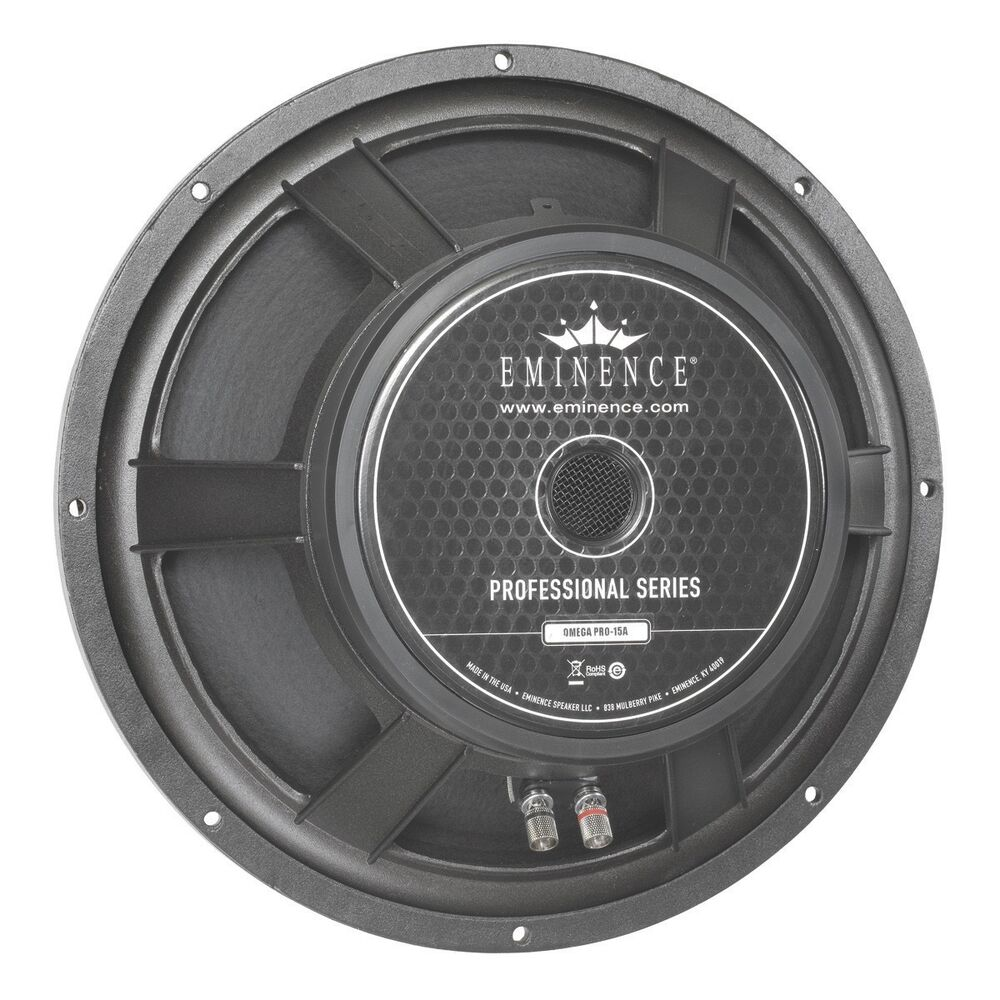 "Watt Meter For Speakers: Eminence Omega Pro 15A Woofer 15"" Speaker 8 Ohm 800 Watt"