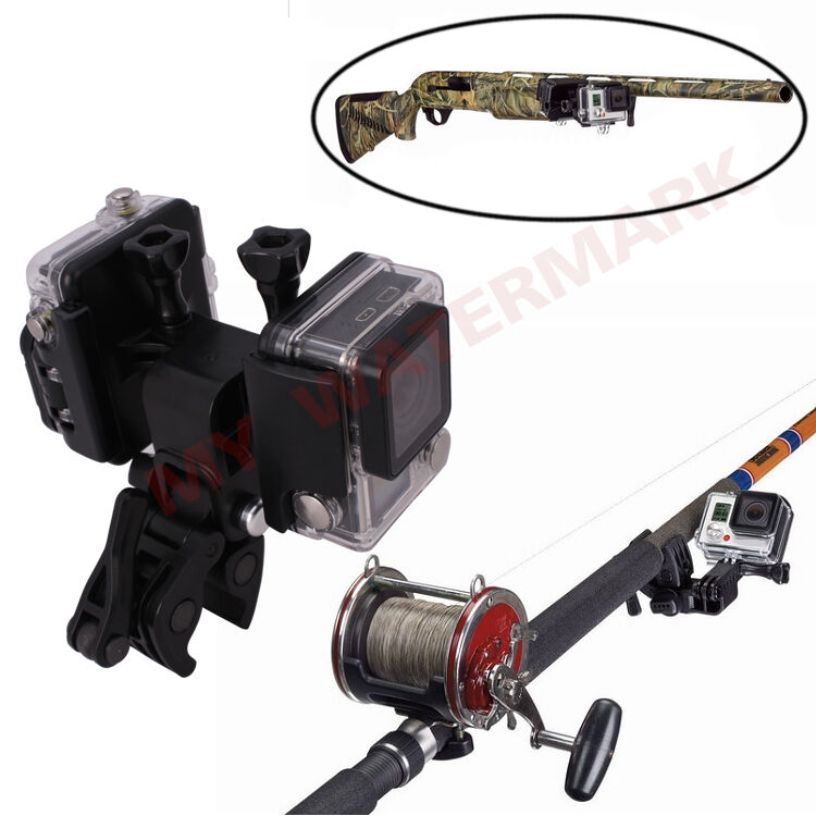 Replacement sportsman fishing rods bows gun clip mount for for Gopro fishing mount