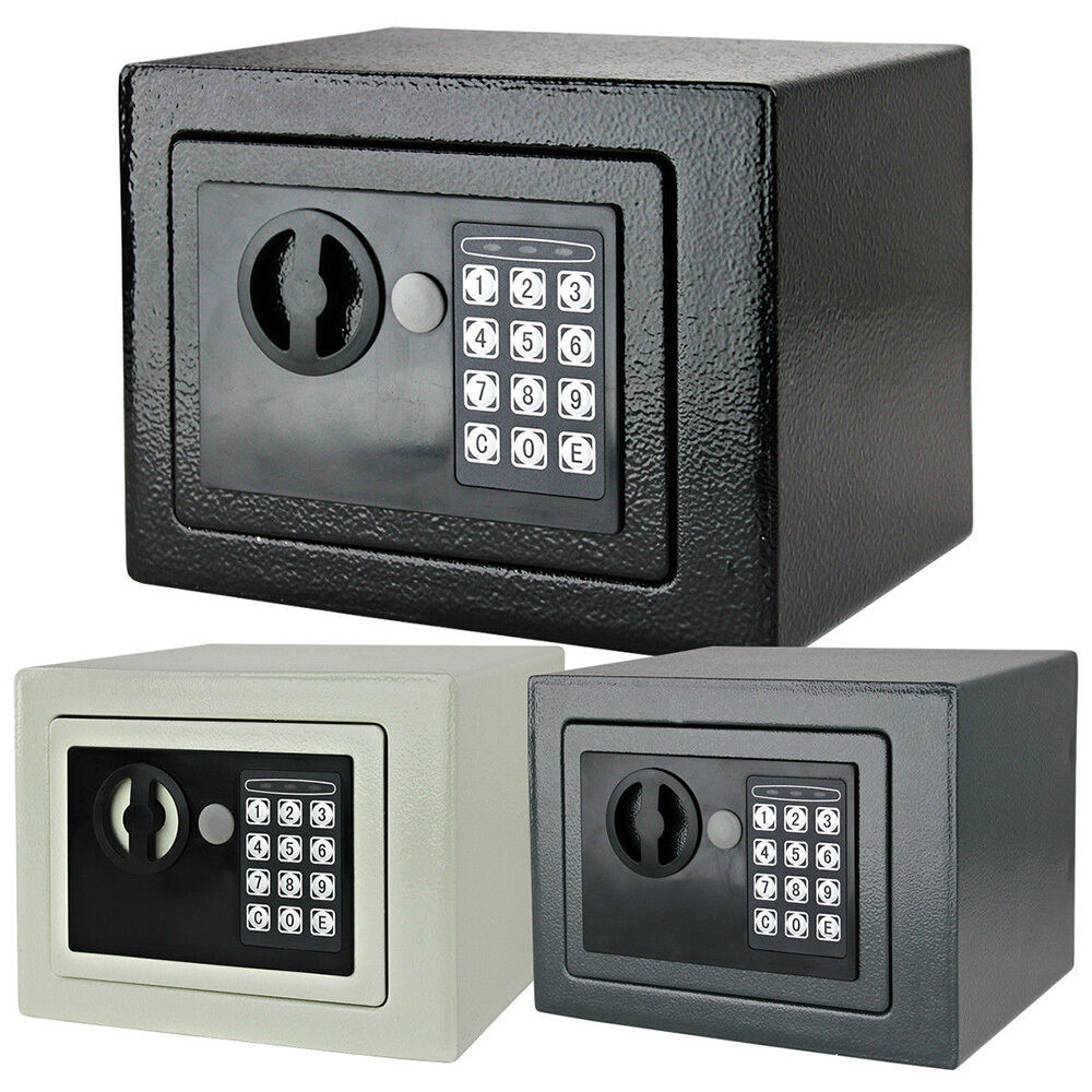 new small digital electronic safe box keypad lock security home gun cash jewelry ebay. Black Bedroom Furniture Sets. Home Design Ideas