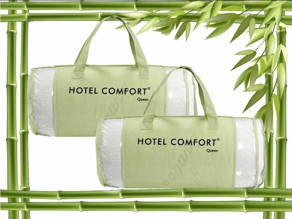 2 pack authentic hotel comfort bamboo memory foam pillow for Comfort inn pillows to purchase