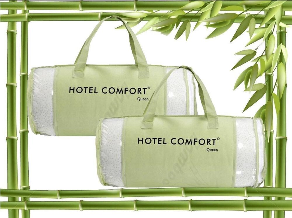 2 pack authentic hotel comfort bamboo memory foam pillow for Comfort inn suites pillows