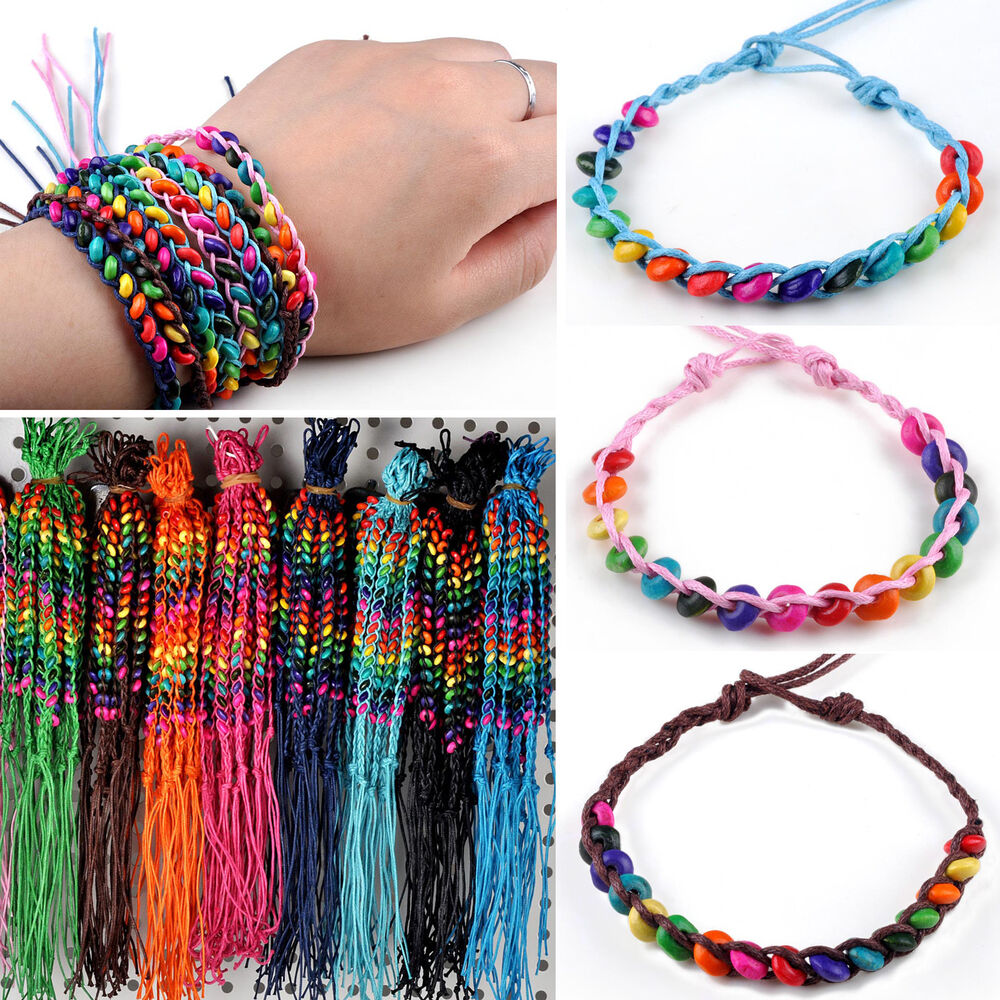 Leather Wrap Bracelet With Charms: Wholesale 100 Pcs Lots Handmade Genuine Charms Leather