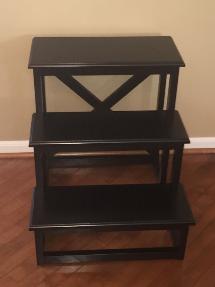 Pottery Barn Rhys Black Phoebe Accent Side Table New Ebay