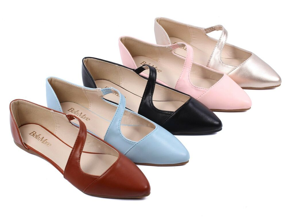 Casual Lady Side Strap Point Toe Fashion Women Ballet