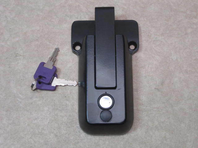 Trailer Door Keyed Lock Hasp Bar Latch Rear Side Race