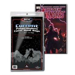 Kyпить (100) BCW Current Clear Comic Book Bags / Sleeves на еВаy.соm