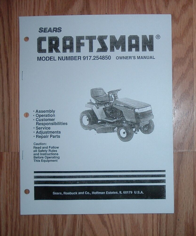 Craftsman Dyt 4000 Manual : Craftsman lt lawn tractor owners manual with