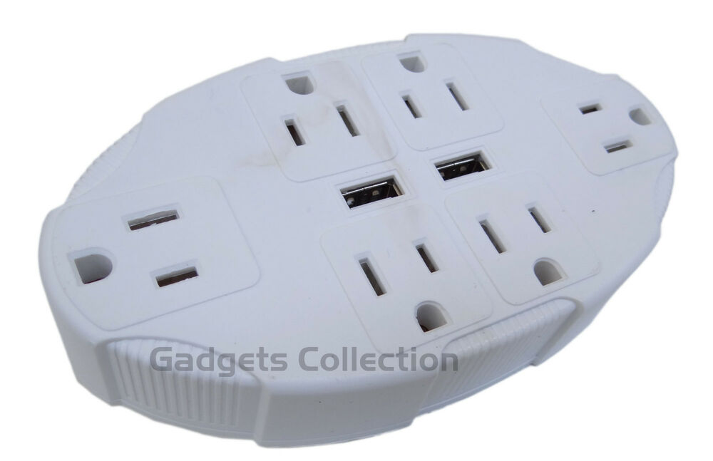 Usb outlet multiplier universal electrical power plug travel adapter us shipping ebay - Electrical outlet multiplier ...