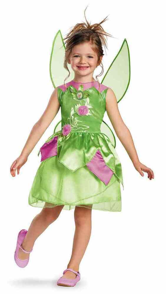 Tinker Bell Classic Pixie Fairy Disney Fancy Dress Up