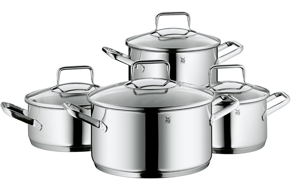 wmf trend 8 piece cookware set made in germany ebay. Black Bedroom Furniture Sets. Home Design Ideas