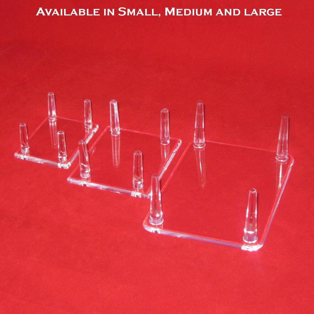 4 Peg Display Stands For Duck Decoys Geodes Minerals