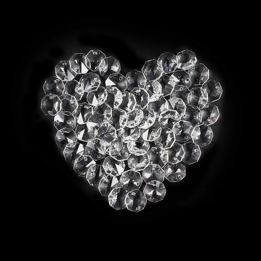 Crystal Chandelier Accessories: TOP 50PCS Clear Crystal Chandelier Decor Parts Faceted